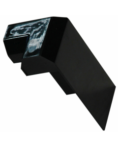 FIX-R EPDM PVC Check Kerb Ext Corner Stopend (Black)