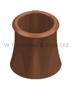 WT Knowles Roll Top Pot Red
